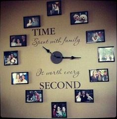Incredible A Family Clock. Give your child a book to read.spiritsofaust… The post A Family Clock. Give your child a book to read. Family Clock, Ideas Paso A Paso, Photo Deco, Home And Deco, Handmade Home, Handmade Pottery, Diy Wall, Wall Art, Clock Wall