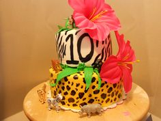 Handpainted cake by Mamas Baked Goodies