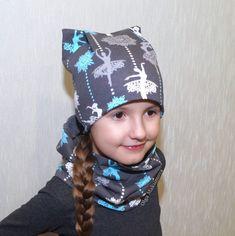 Как сшить шапку и снуд для ребенка из трикотажа в стиле Family Look своми руками. 3 выкройки и мастер-класс. Видео.