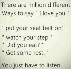 ...ways to say 'I love you'...