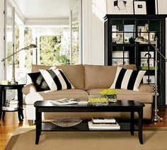 Love the beige and black and white.