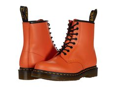 Metallic Ankle Boots, Lace Up Boots, Orange Boots, Doc Martens Style, Grunge Fashion, Grunge Outfits, Hijab Fashion, Street Fashion, Yellow Lace