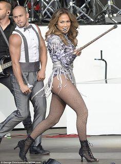 She's still got it: Jennifer Lopez shows off her famous backside in high-cut leotard |
