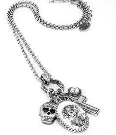 Day of the Dead Necklace Dia de los Muertos by BlackberryDesigns