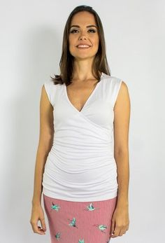 21c220067 Blusas para amamentar Mamme · Regata gestante e amamentação Alecrim - branca