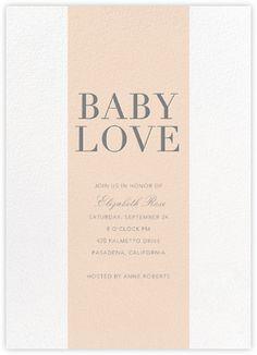 Baby Stripe   Pink   Paperless Post