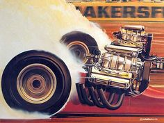 Top Fuel. This painting may be available as a print in the near future.