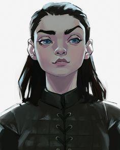 Arya Stark : Game of Thrones Art Game Of Thrones, Dessin Game Of Thrones, Art Sketches, Art Drawings, Heros Comics, Marvel Comics, Drawn Art, Art Station, Character Design Inspiration