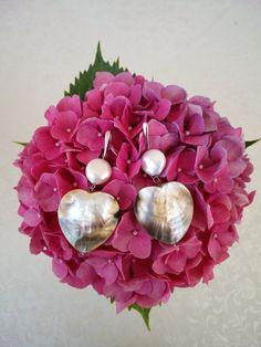 Orecchini in argento 925 rodiato con perle di Lithodoracapri