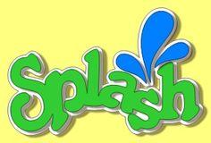 FREE Splash title SVG  #scrapbooking #cards #svg