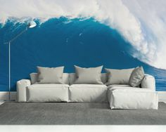 deep blue wave wall mural specsmaterial peel stick thin