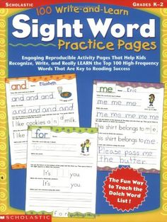 Each printable sight words list combines Dolch sight words and Fry's high frequency word lists. Print five different sight word lists for Pre-K and up.