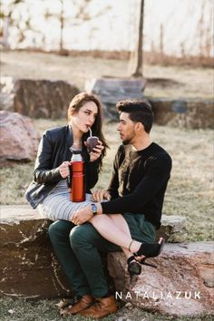 Do you have cultural traditions you want to follow as a family? Tamara and Nicholas's background is Uruguay, and they decided to incorporate the national tea into the photoshoot: Mate. Ontario Place, Engagements, Engagement Photos, Toronto, Photoshoot, Tea, Park, Couple Photos, Uruguay