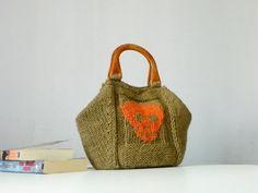 So cute!    Skull Knitting Tote women fashion Fall tones Knit wom by NzLbags, $115.00