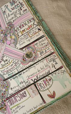 journal/calendar pages by pam garrison, via Flickr