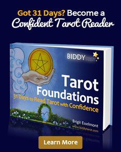 Ever wanted to #learntoreadTarot but never had the time?  Overwhelmed by having to memorise #Tarotcardmeanings?  Struggling to take your #Tarotreadings to the next level?  In just 31 days, you can learn to read Tarot with confidence!  http://www.biddytarot.com/tarot-guides/tarot-foundations/