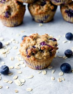 Blueberry Oatmeal Muffins - will reduce blueberries and add nuts next time