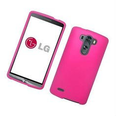 Eaglecell LG G3 Vigor Rubberized Hard Snap-on Case - Hot Pink