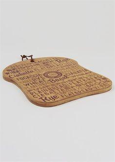 Bread Design Chopping Board (31cm x 25.8cm x 1.5cm)