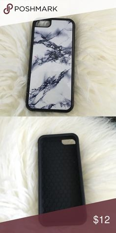 half off ad58c f397e iPhone 5c marble case Gently used case looks like new, white and black  marble Accessories