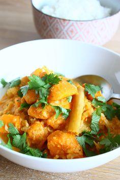 Zoete aardappel curry met bloemkool - Sweet Potatoes NL