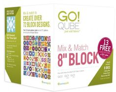 "Here's your chance to win a GO! Qube 8"" Mix & Match Block Set! Entering couldn't be easier. Just post a picture or video of you using any of AccuQuilt's GO! cutting systems (GO! Baby. GO! Or GO! Big) on the AccuQuilt Facebook page and tell us how you like it.  Visit the AccuQuilt Facebook Page for more details! (Contest winner will be announced 9/1/16)"