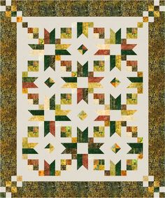 Counting Stars designed by Cozy Quilt Designs Features Artisan Batiks: Cornucopia by Lunn Studios, shipping to stores May 2017. Roll-up friendly. Pattern available for purchase (cozyquilt.com) #artisanbatiks