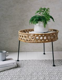 www.roseandgrey.co.uk rattan-side-table