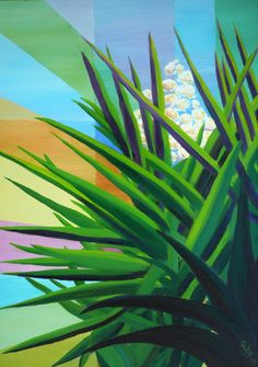 Yucca blossoms at Metaxart studio garden By Ruby Van Assendelft