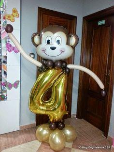 Columna de mono con número.