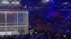 Shane McMahon jumps off the top of the Hell in a Cell at Wrestlemania 32