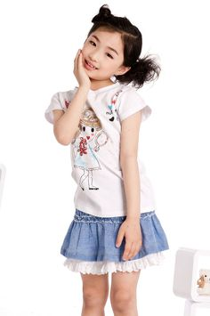 Aliexpress.com : Buy Korea Style Summer Girl Leisure Skirts Denim Skirts,Free Shipping K0422 from Reliable Little Girls Mini Skirts suppliers on SICIBAY - Kids' Clothing:Selling for Donating