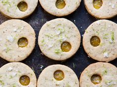 SPICY PINEAPPLE LINZER COOKIES A spicy-savory-sweet sandwich cookie full of lime, pineapple, and hazelnut.