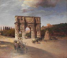 Constantine's Triumphal Arch in Rome, 1886. Alte Nationalgalerie, Berlin.