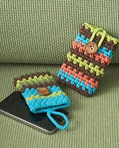 CROCHET / Ravelry: Mobile Phone Covers pattern by Lily / Sugar'n Cream (crochet,phone case,handmade)