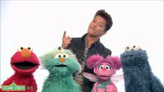 Sesame Street: Bruno Mars: Don't Give Up  LOVE This---great song for my kiddos!