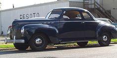 Une DeSoto Business coupé de 1940, 6 cylindres 100cv, boite mécanique.