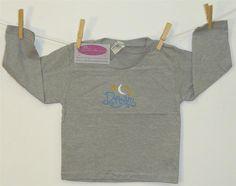 Dream Night Sky Moon & Stars Toddler Shirt 24-Months Gray Long Sleeve Monogram #PreciousCargo #Everyday