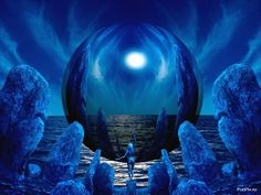 abstract blue fantasy – Abstract and CG HD Desktop Wallpaper Screensaver Download, Image Bleu, Le Bateleur, Free Screensavers, Free Desktop Wallpaper, Desktop Backgrounds, Desktop Wallpapers, Albert Camus, First Contact