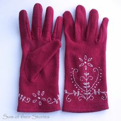Sum of their Stories: Embroidered Gloves
