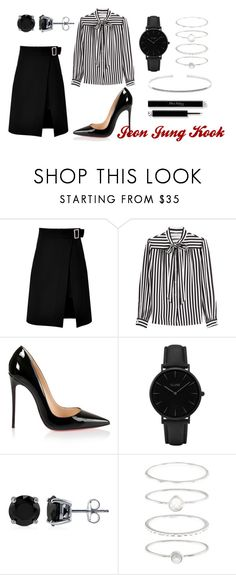 """BTS ""Blood Sweat and Tears"""" by smilikira ❤ liked on Polyvore featuring storets, Philosophy di Lorenzo Serafini, Christian Louboutin, CLUSE, BERRICLE, Accessorize, Anne Sisteron, outfit, Dark and bts"
