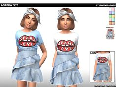 Found in TSR Category 'sims 4 Female Child Everyday' The Sims 4 Bebes, Toddler Poses, Sims 4 Cc Kids Clothing, Sims 4 Children, Sims 4 Mm, The Sims 4 Download, Clothing Haul, Sims Resource, Kid Outfits
