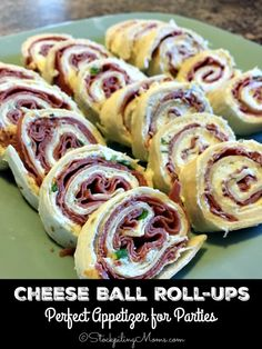 Cheese Ball Roll-Ups are the easiest appetizer you will ever make for New Year's Eve party with only 5 ingredients and you can make it in as little as 5 minutes!
