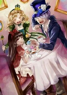 Ib, Garry and Mary-Alice in Wonderland version