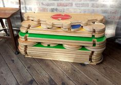This wooden play house, discovered by The Grommet, lets kids build life-sized cabins, forts, sheds, and any other structures their imaginations can conjure up.