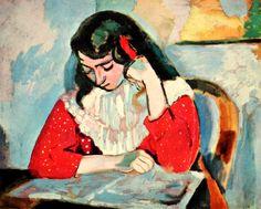 Henri Matisse (1869-1954) Marguerite reading, 1906