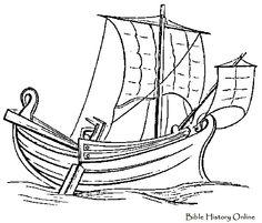 Roman Ship Under Sail - Images of Ancient Ships (Roman Ships and ...