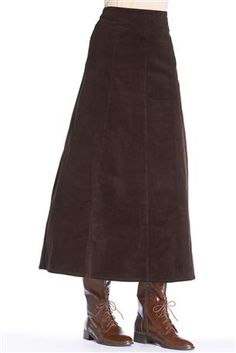 Long Corduroy Skirt: Long, paneled A-line skirt in soft stretch corduroy. A wardrobe essential for fall and beyond!