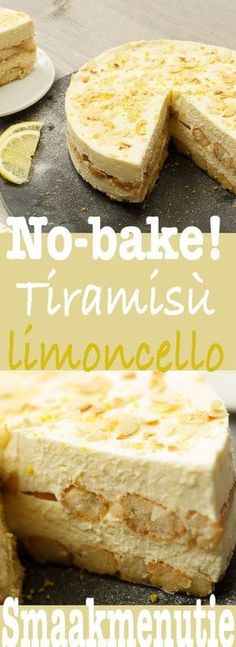 Tiramisu limoncello – Desserts and pies recipe Taste Menu … – Sweet Varieties Lemon Recipes, Sweet Recipes, Baking Recipes, Cake Recipes, Dessert Recipes, Dutch Recipes, Tiramisu Limoncello, Delicious Desserts, Yummy Food