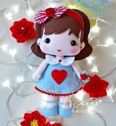 Felt Diy, Felt Crafts, Felt Dolls, Alice, Kawaii, Christmas Ornaments, Toys, Holiday Decor, Samara